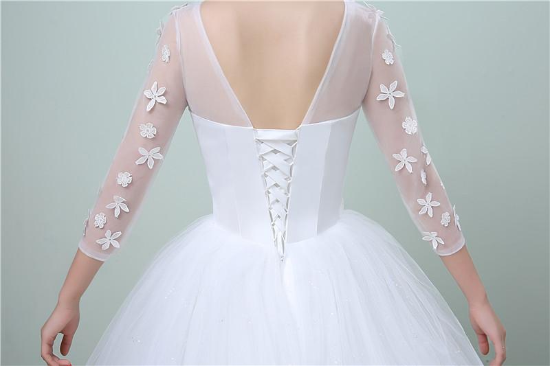 Dlhé svadobné šaty - 11 veľkostí - Obrázok č. 4