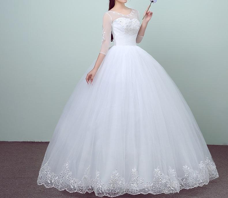 Dlhé svadobné šaty - 11 veľkostí - Obrázok č. 1