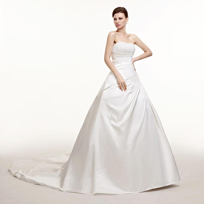 Dlhé svadobné šaty - 7 veľkostí, 2 farby - Obrázok č. 1
