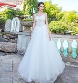 Dlhé svadobné šaty - 8 veľkostí, 38