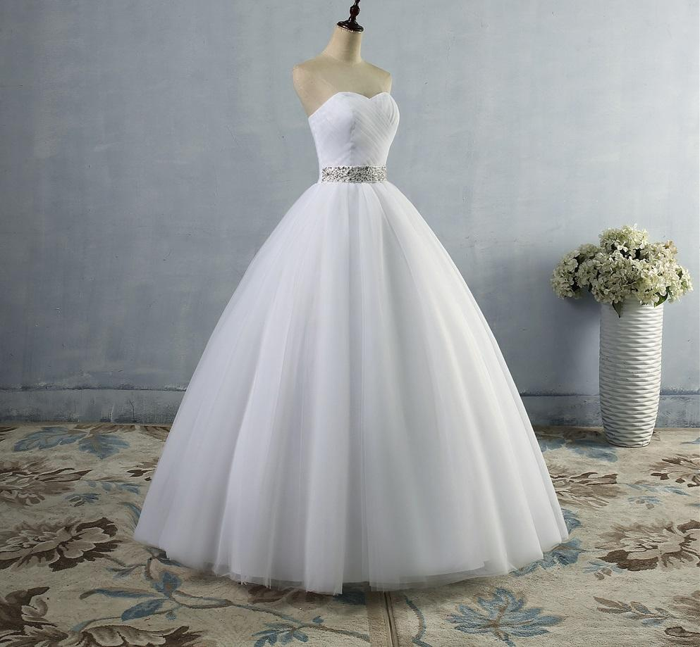 Dlhé svadobné šaty - 14 veľkostí, 2 farby - Obrázok č. 4