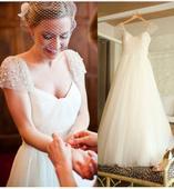 Dlhé svadobné šaty - 10 veľkostí, 2 farby, 38