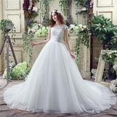 Dlhé svadobné šaty - 7 veľkostí, 2 farby, 54
