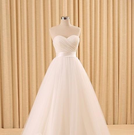 Dlhé svadobné šaty - 10 veľkostí, rôzne farby - Obrázok č. 3