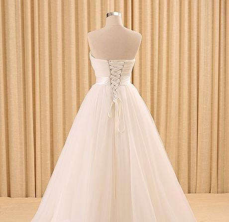 Dlhé svadobné šaty - 10 veľkostí, rôzne farby - Obrázok č. 4