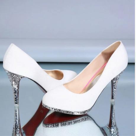 Svadobné lodičky, obuv - 5 veľkostí - Obrázok č. 1