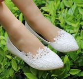 Svadobné baleríny, obuv - 10 veľkostí, 35