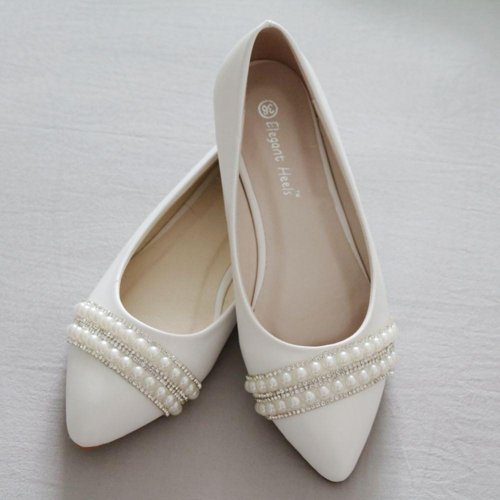 Svadobné baleríny, obuv - 10 veľkostí - Obrázok č. 2
