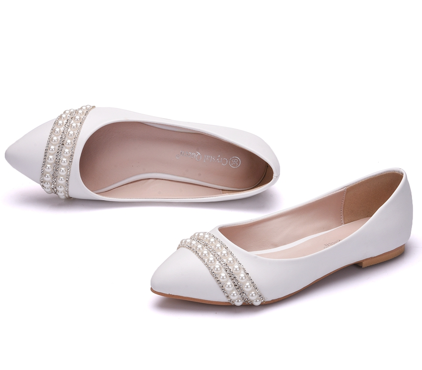 Svadobné baleríny, obuv - 10 veľkostí - Obrázok č. 3