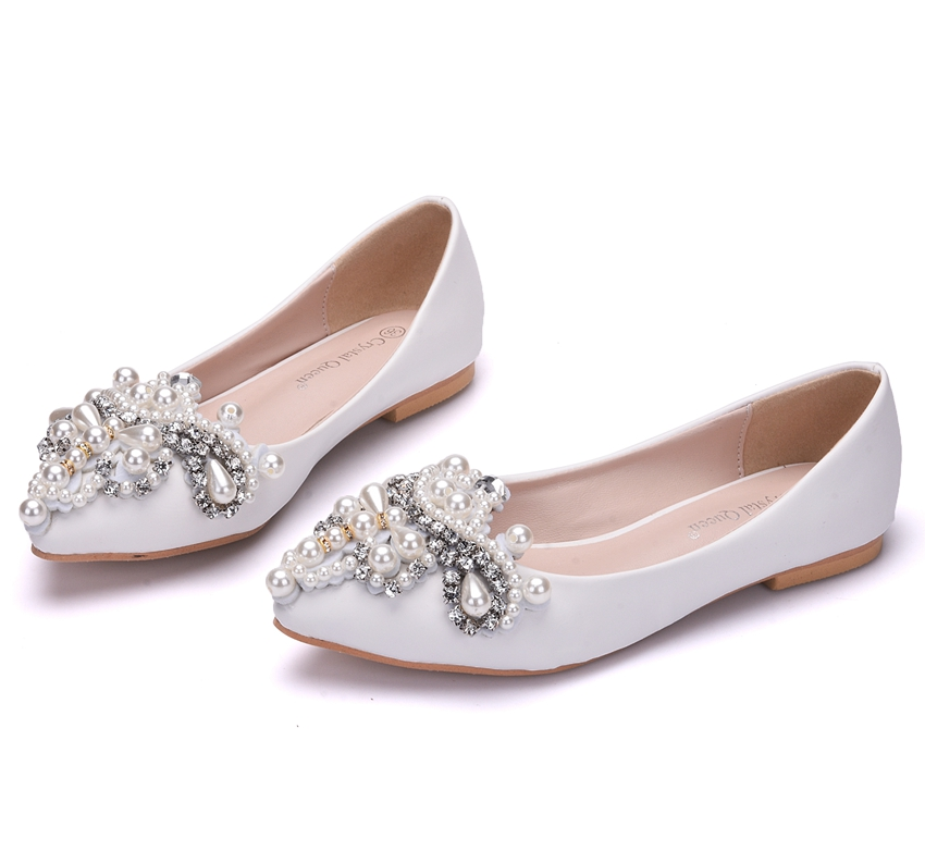 Svadobné baleríny, obuv - 10 veľkostí - Obrázok č. 1