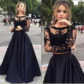 Dlhé spoločenské šaty - sukňa + top - 4 veľkosti, 38