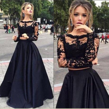 Dlhé spoločenské šaty - sukňa + top - 4 veľkosti - Obrázok č. 1