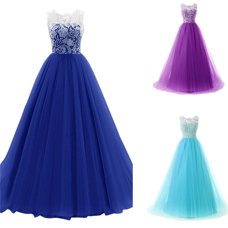 Dlhé spoločenské šaty - 4 veľkosti, 3 farby - Obrázok č. 1