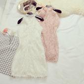 Krátke spoločenské šaty - 2 veľkosti, 2 farby, 36