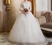 AKCIA svadobné šaty k dispozícii EU 40/44 + darček, 42