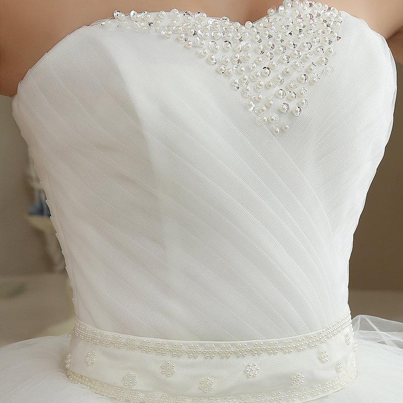 AKCIA svadobné šaty k dispozícii EU 36/40 - 42 - Obrázok č. 2