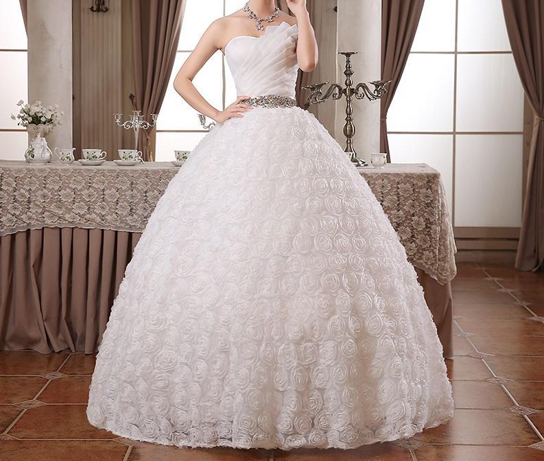 AKCIA svadobné šaty k dispozícii EU 36/40 - 42 - Obrázok č. 1