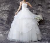 AKCIA Dlhé svadobné šaty k dispozícii EU 40/44, 40