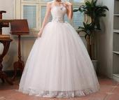 AKCIA svadobné šaty k dispozícii EU 42/46 + darček, 46