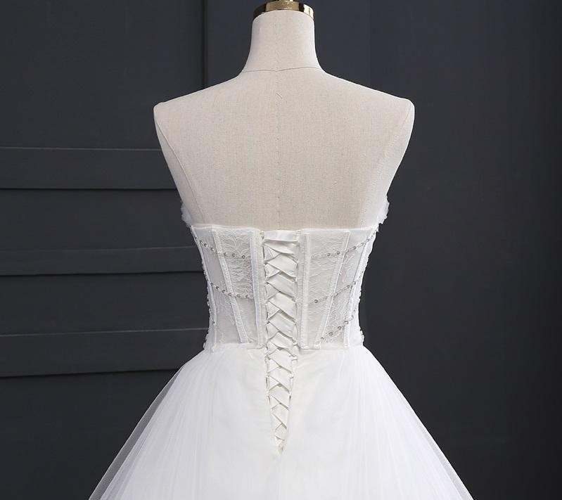 Extravagantné svadobné šaty - 9 veľkostí, 2 farby - Obrázok č. 3