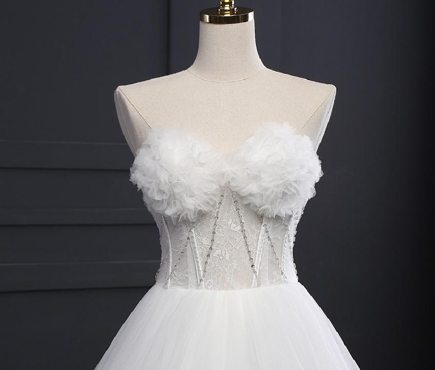 Extravagantné svadobné šaty - 9 veľkostí, 2 farby - Obrázok č. 4