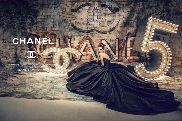 Dlhé spoločenské šaty - inšp. Chanel - 8 veľkostí - Obrázok č. 1