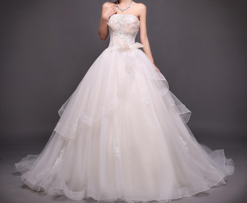 Dlh svadobné šaty - 8 veľkostí - Obrázok č. 1