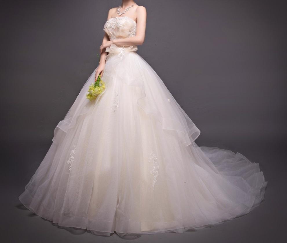 Dlh svadobné šaty - 8 veľkostí - Obrázok č. 2