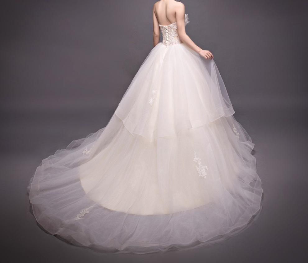 Dlh svadobné šaty - 8 veľkostí - Obrázok č. 3