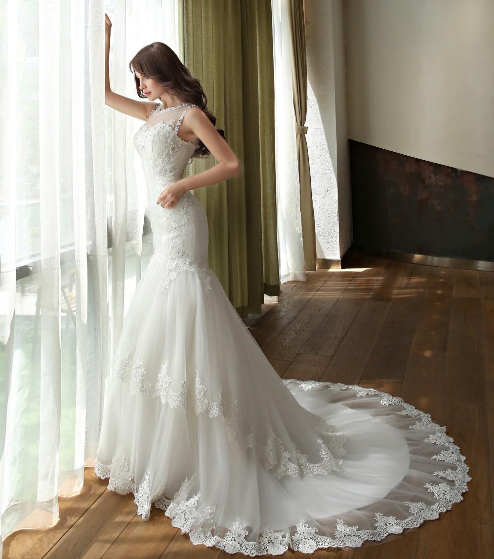 Dlhé svadobné šaty - 6 veľkostí - Obrázok č. 4