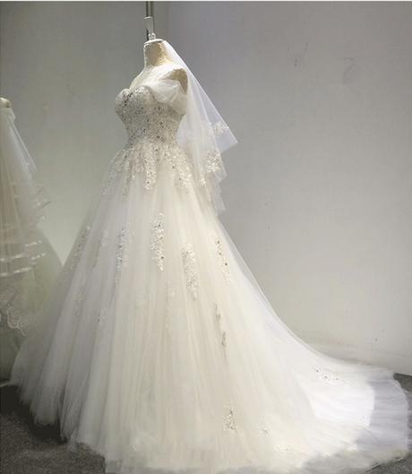 Dlhé svadobné šaty - 7 veľkostí - Obrázok č. 2