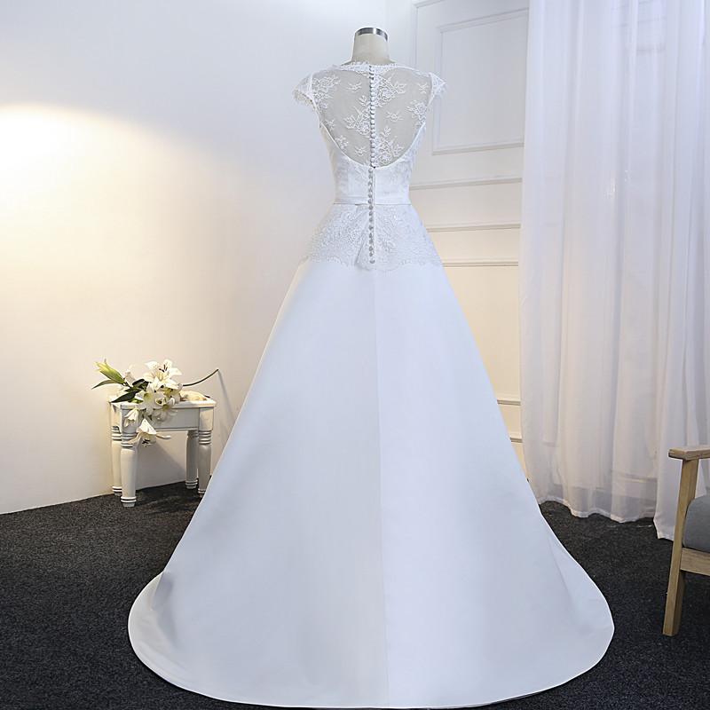 Dlhé svadobné šaty - 10 veľkostí, 5 farieb - Obrázok č. 3