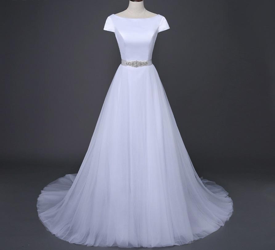 Dlhé svadobné šaty - 10 veľkostí, 5 farieb - Obrázok č. 1
