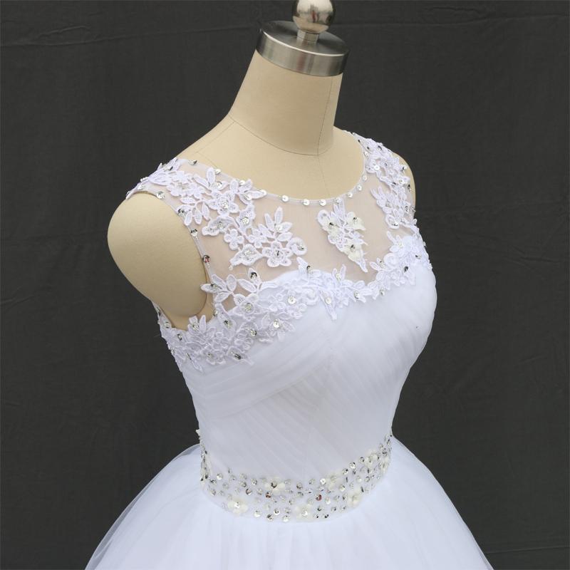 Dlhé svadobné šaty - 11 veľkostí, 2 farby - Obrázok č. 2