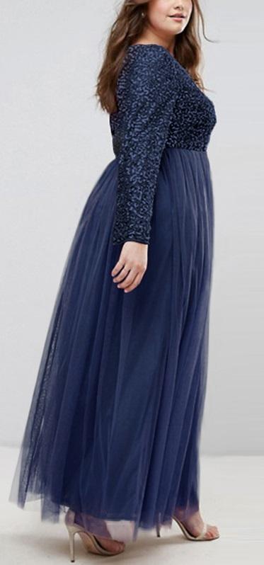 Dlhé spoločenské šaty pre molet 6 veľkostí,3 farby - Obrázok č. 4