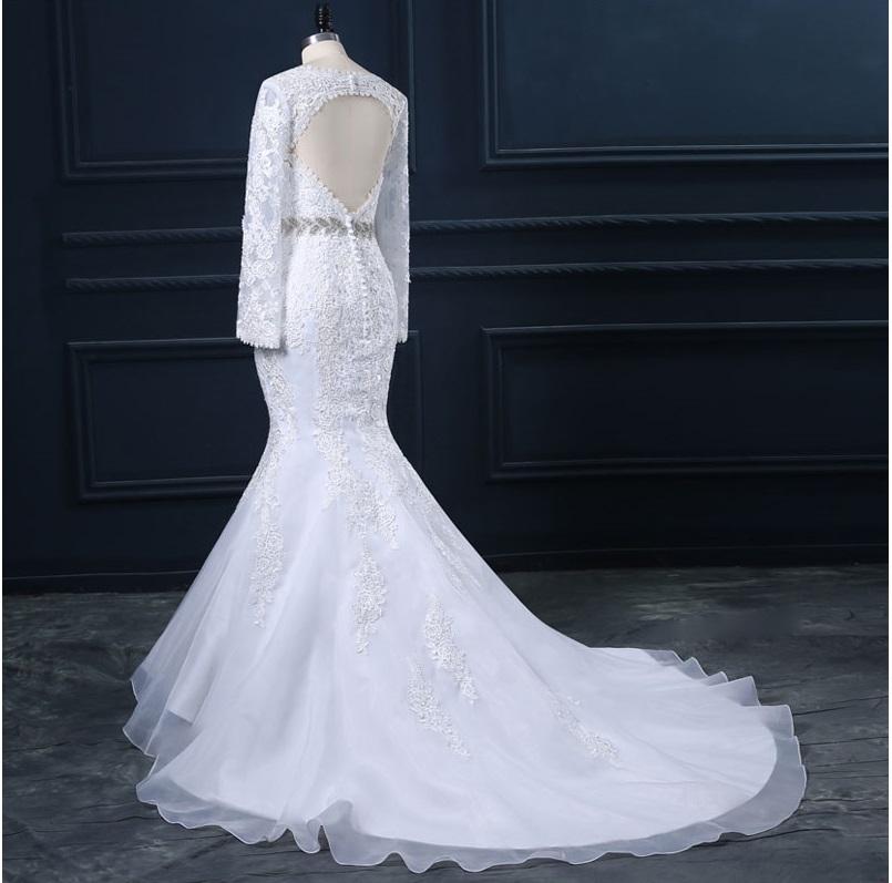 Dlhé svadobné šaty - 12 veľkostí, 5 farieb - Obrázok č. 2