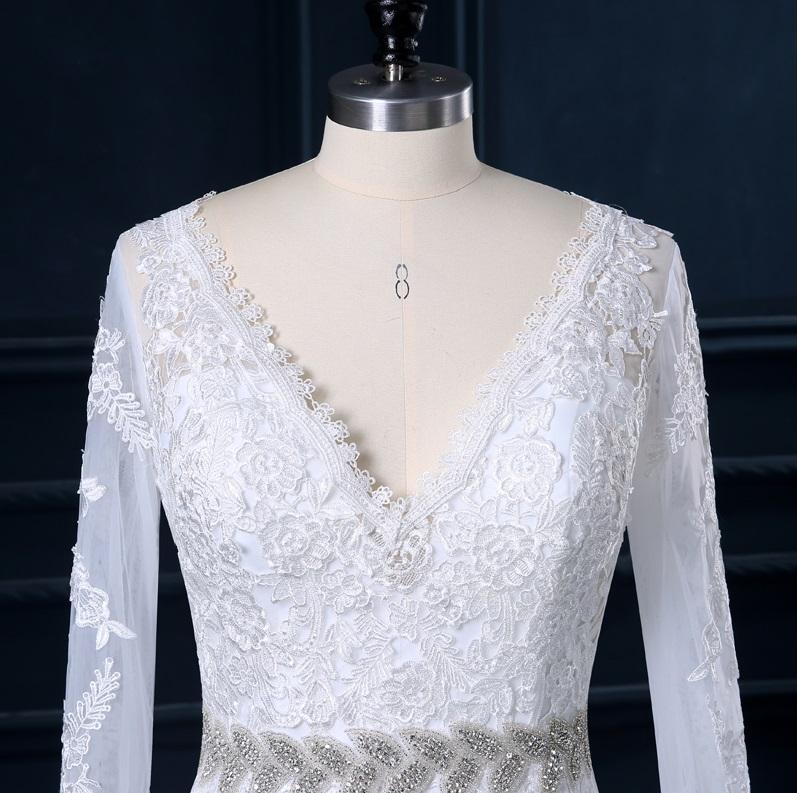 Dlhé svadobné šaty - 12 veľkostí, 5 farieb - Obrázok č. 3