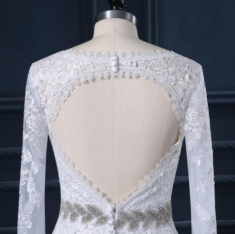 Dlhé svadobné šaty - 12 veľkostí, 5 farieb - Obrázok č. 4