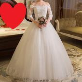 AKCIA svadobné šaty k dispozícii EU 38-42, 40