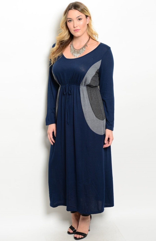 Dlhé šaty pre molet a tehotné - 5 veľkostí - Obrázok č. 1