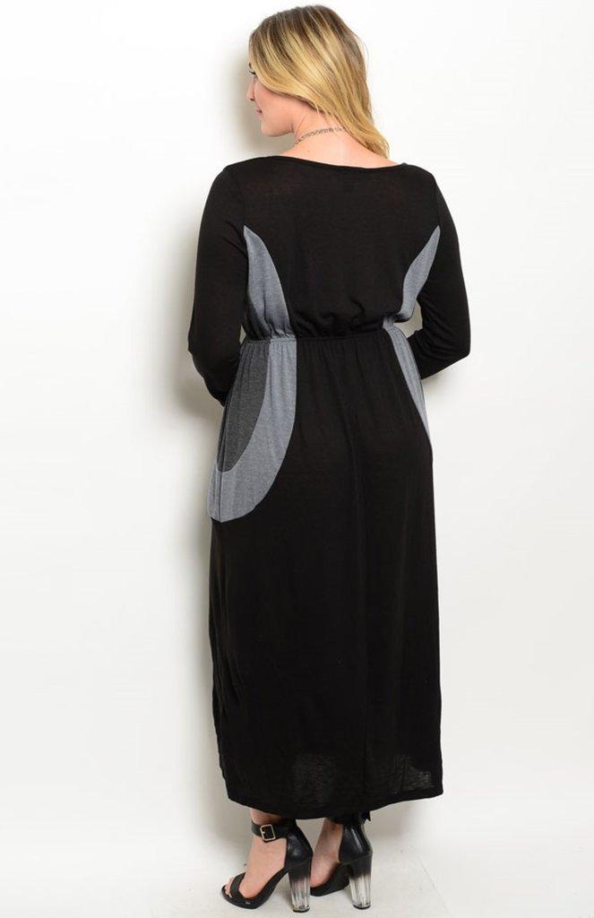 Dlhé šaty pre molet a tehotné - 5 veľkostí - Obrázok č. 2