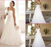 Dlhé svadobné šaty - 15 veľkostí, 2 farby, 48