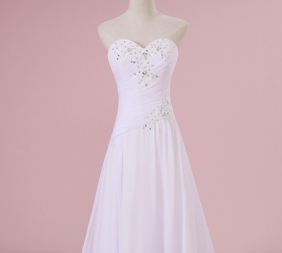 Dlhé svadobné šaty - 15 veľkostí, 2 farby - Obrázok č. 3