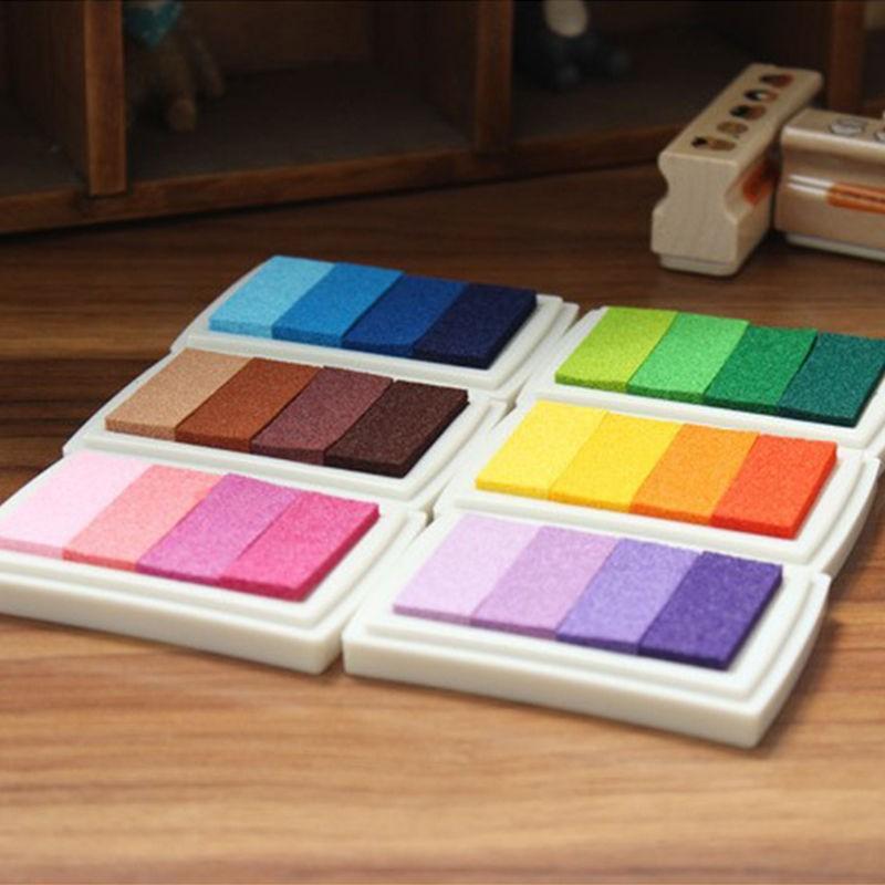 Farebné pečiatky v 4 odtieňoch - 6 farieb - Obrázok č. 1