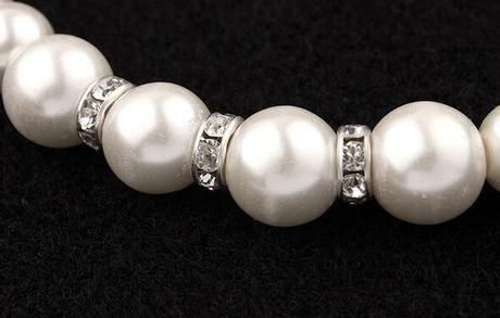 Perlový set - náramok, náušnice a náhrdelník - Obrázok č. 3