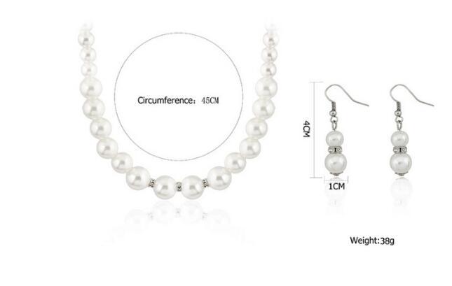 Perlový set - náramok, náušnice a náhrdelník - Obrázok č. 4