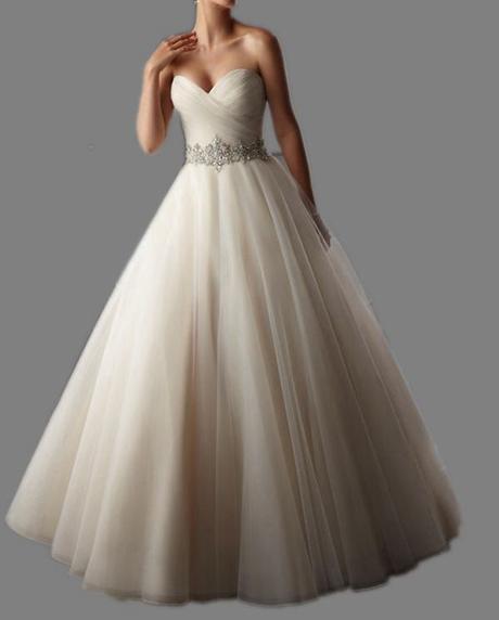 Dlhé svadobné šaty - 15 veľkostí, 4 farby - Obrázok č. 1