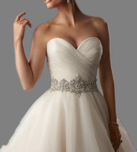 Dlhé svadobné šaty - 15 veľkostí, 4 farby - Obrázok č. 2