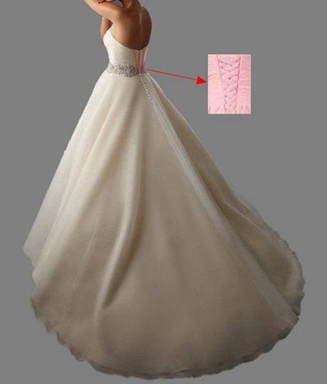 Dlhé svadobné šaty - 15 veľkostí, 4 farby - Obrázok č. 3
