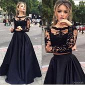 2D spoločenské šaty - sukňa + top - k dispozícii, S